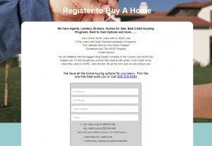 Register to Buy a Home Screenshot